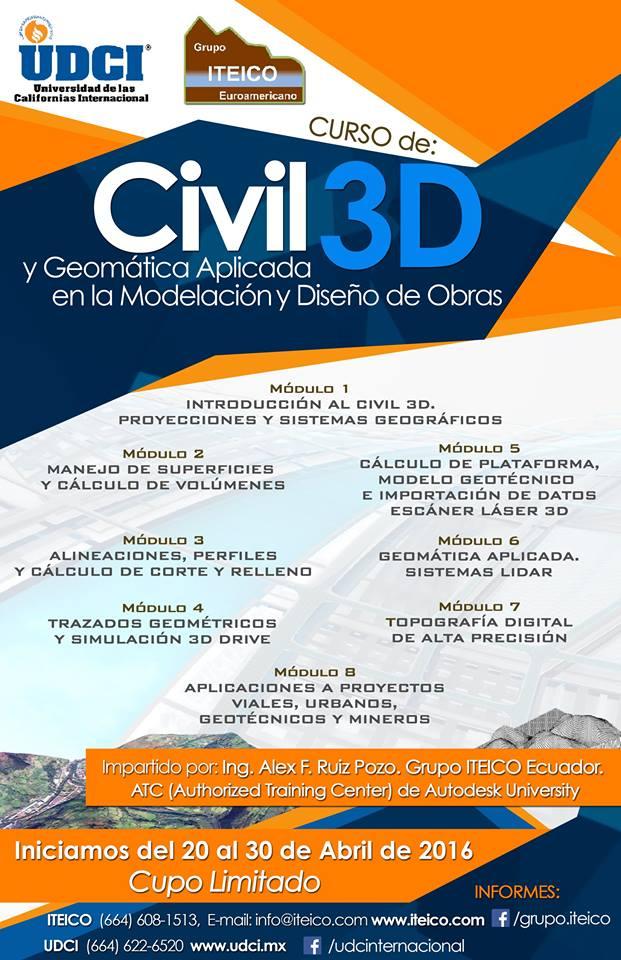Poster Cuso civil3D